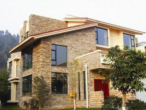 房屋外墙文化石颜色搭配